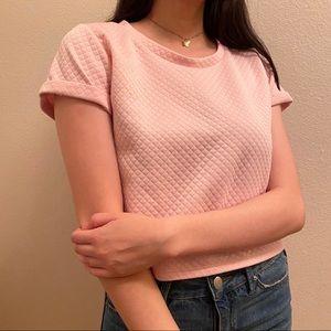 A'GACI baby pink crop top